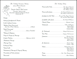 program for wedding ceremony template template wedding ceremony layout template