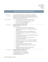 Resume For Bank Teller Objective Cute Financial Secretary Resume Sample And Template Bank Teller