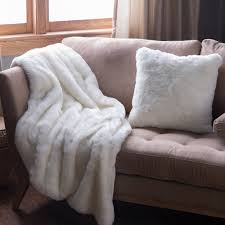 Faux Fur Throw Solid Off White Faux Fur Throw Hayneedle
