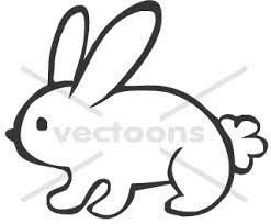simple baby rabbit illustration in sketch style animals buy