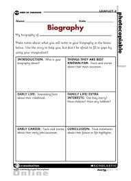 ks2 literacy biography and autobiography biography planning grid primary ks2 teaching resource scholastic