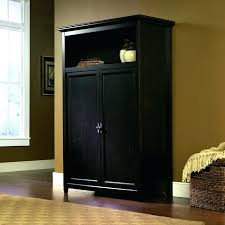 Computer Armoire With Pocket Doors Armoire Computer Armoire Custom With Birds Nest Design And