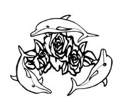 dolphin and rose tattoo design cool tattoos pinterest rose