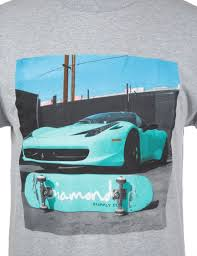 ferrari diamond diamond supply co ferrari tee heather grey clothing from fat