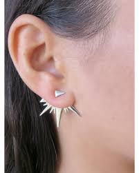 ear cuffs for pierced ears hot bargains on silver ear jacket earring minimalist ear