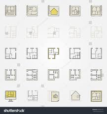 apartment plan colorful icons vector creative stock vector