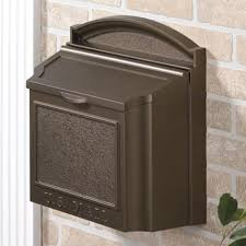 Wall Mount Mailbox With Flag Colonial Wall Mount Mailbox Outdoor