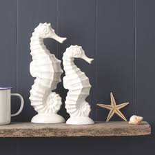 seahorse ornaments by the nautical home notonthehighstreet