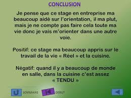 rapport de stage 3eme cuisine l inedit rapport de stage en entreprise au restaurant ppt