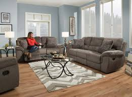 Gray Recliner Sofa Reilly Gray Reclining Sofa And Loveseat My Furniture Place