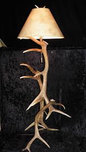 antler creek wildlife creations elk antler floor lamp