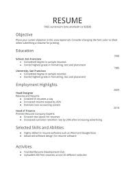 Sample Resume Templates Word Document Sample Of Resume Format Winning Resume Template Sample Resume