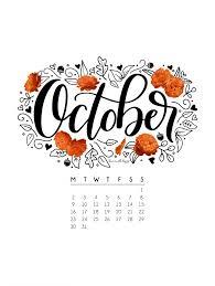 October 2017 Printable Calendar Tech Pretties