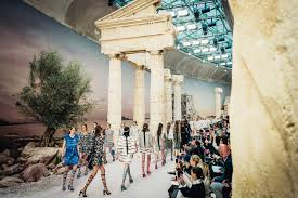 siege chanel for chanel cruise karl lagerfeld brings greece to the