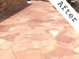 Patio Sealant Flagstone Pool Coping Surrounding Salt Water Swimming Pool