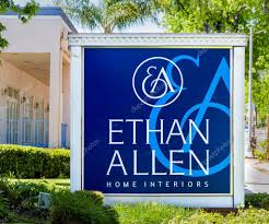 ethan allen home interiors sign and logo u2013 stock editorial photo
