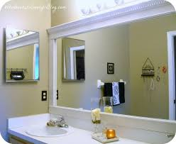 Unique Bathroom Mirror Frame Ideas Bathroom Mirror Framed With Crown Molding Hometalk