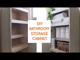 Over The Toilet Storage Cabinets Diy Over The Toilet Storage Cabinet Youtube