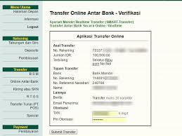 email mandiri transfer uang dengan internet banking bsm