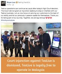 Seeking Malaysia The Court Has Dismissed An Injunction Seeking To Stop Tealive S