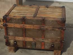 vintage trunk coffee table tattered lantern old trunk coffee table sold