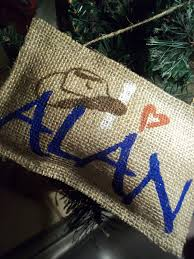 alan jackson country music burlap christmas ornament custom