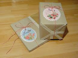 tiny blue apartment gift diy wrapping paper kraft paper look a