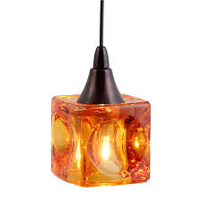 low voltage pendant lights mini cube shaped pendant lighting dpnl 35 6 amber direct com stylish