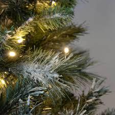 pre lit slim snow flocked spruce multi function christmas tree
