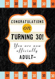 30th u003d ish funny birthday card greeting cards hallmark