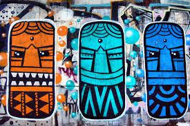 boys wallpaper wall murals murals wallpaper colourful aztec masks graffiti mural