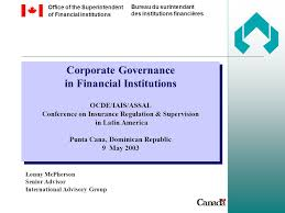 bureau of financial institutions corporate governance in financial institutions ocde iais assal