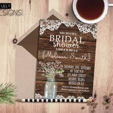 Mason Jar Bridal Shower Invitations Rustic Country Bridal Shower Invitations Vertabox Com