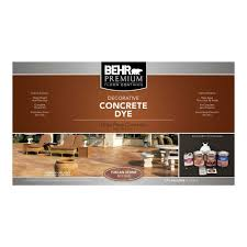 Decorative Cinder Blocks Home Depot Behr Premium Tuscan Stone Concrete Dye Kit 86036 The Home Depot