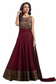 lancha dress hitesh enterprise designer maroon color embroidered net party wear