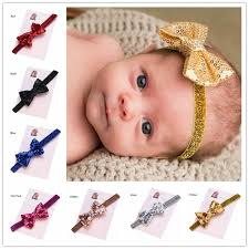 newborn hair bows 30pcs newborn hair bows headband gold bows elastic headband