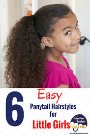 Little Girls Ponytail Hairstyles by Quick And Easy Curly Hairstyles For Girls
