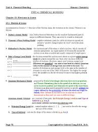 unit 4 chemical bonding notes answers chemical polarity ion