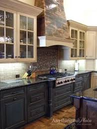 2 tone kitchen cabinets lighter and brighter kitchen in linen milk paint and van brown