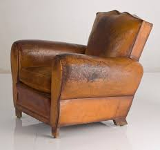 Barrel Armchair Furniture Vintage Leather Club Chair For Minimalist Family Room