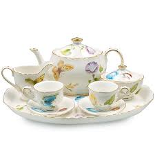 tea set caroline s butterflies children s tea set the teapot shoppe inc