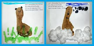 footprint craft and graphing activity for groundhog day
