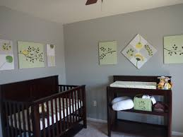 baby nursery foxy room decorating using light gray wall paint