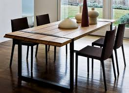 Inspiring Contemporary Wood Dining Table Dining Room Modern Wood - Modern dining room tables