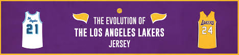 the evolution of the los angeles lakers jersey