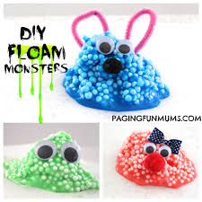 floam u0027 monsters gooey sensory fun monsters fun activities and