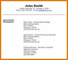References Template For Resume 7 Resume Reference Page Example Budget Reporting
