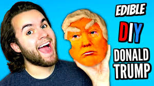 donald trump youtube channel diy edible donald trump eat trump cake how to make orange