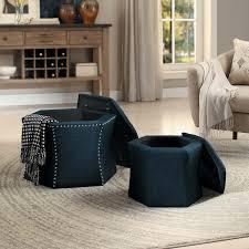 furniture pouf chair blue storage ottoman large round ottoman