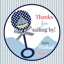 nautical design baby baby boy stickers